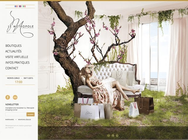 Site campagne Princesses Metropole Shopping Center par l'Agence Shops