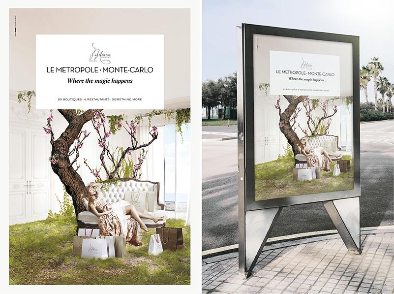 Abribus campagne Princesses Metropole Shopping Center par l'Agence Shops