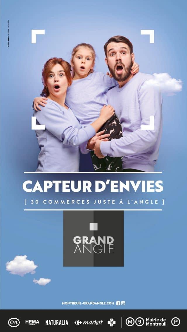 campagne générique centre commercial grand angle par l'agence shops
