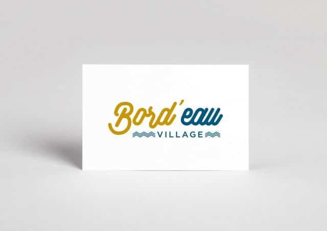 branding concept Bord d'eau Village, le Nouveau Centre shopping de bordeaux sur les quais.