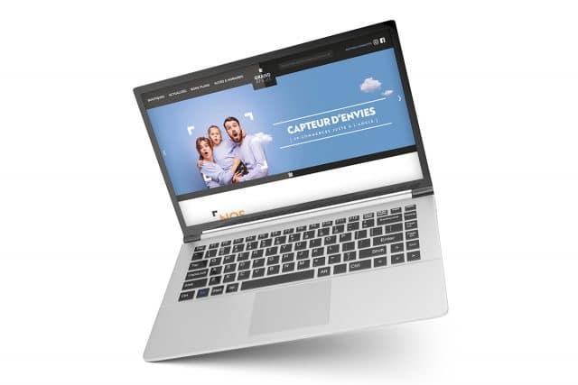 site web centre commercial grand angle par l'agence shops